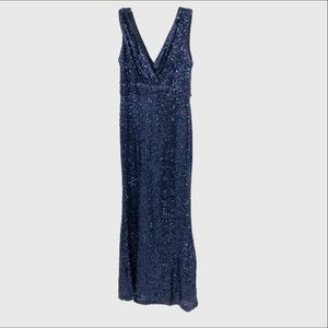 Belle Badgley Mischka sequined sleeveless gown